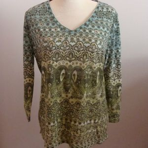 Ladies Style & co. Multi Color Top